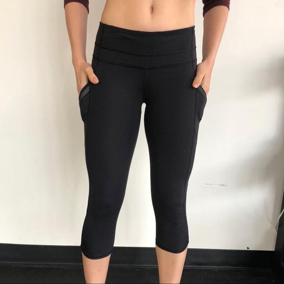 661764af9a792c lululemon athletica Pants   Lululemon Black Luxtreme Crops W Pockets ...